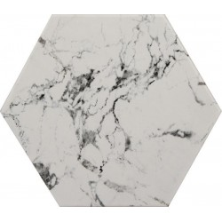 Marmol Hexagono Carrara...