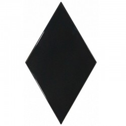Rhombus Wall Black 15,2x26,3