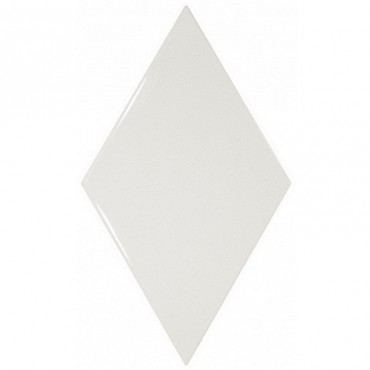Rhombus Wall White 15,2x26,3